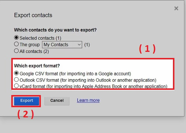 How To Exporting Contacts In Gmail - E - mail tips and tricks