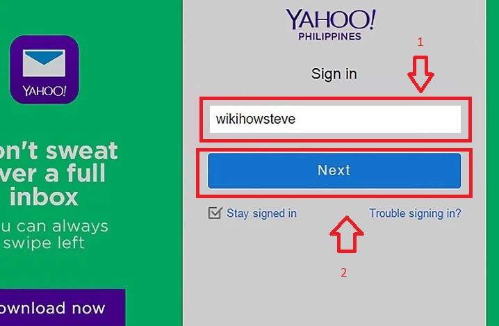 Philippines login yahoo mail How to