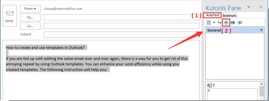 Create Templates In Outlook With Kutools E Mail Tips And Tricks
